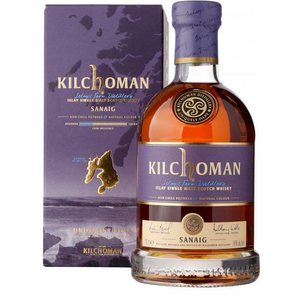 Kilchoman Sanaig, 46%, Islay (Sherry-fade)