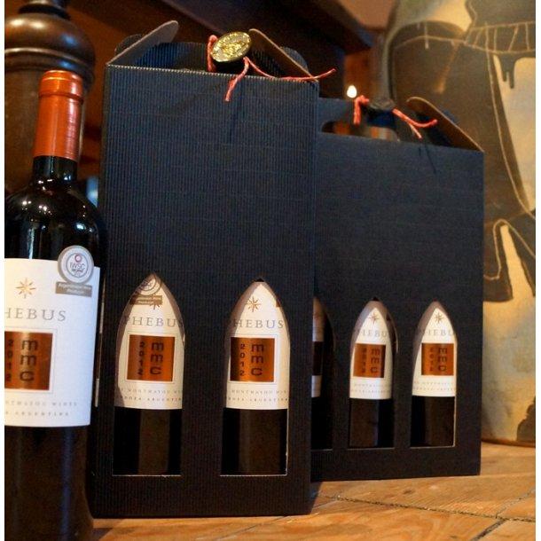 Gaveæske til 2 flasker vin